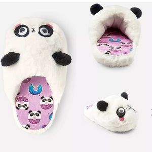 NWT justice girls  panda slippers size 12